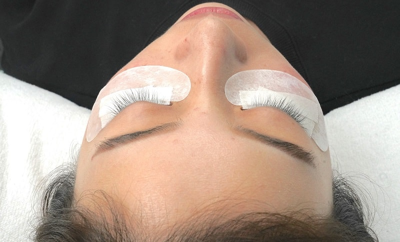 Eyelash Extensions Competition Example Behind Before