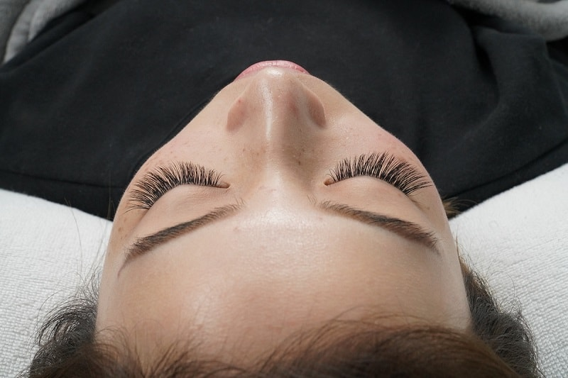 Eyelash Extensions Competition Example Behind After